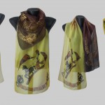 "Ръчно рисуван копринен шал""Елада"""