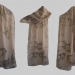 """Ръчно рисуван копринен шал""""Морско дъно """""""