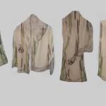 """Ръчно рисуван копринен шал """"Папури"""""""