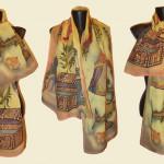 "Ръчно рисуван копринен шал ""Шехерезада"""