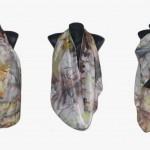 "Ръчно рисуван копринен шал""Тигрово око "",материал 100 % коприна,размери 140 см х 40 см,19 юни 2014,Аtelie Nevy & DiL"