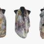 Ръчно рисуван копринен шал Тигрово око 200
