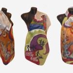 Ръчно рисуван копринен шал     Бути Вуги    200