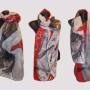Ръчно рисуван копринен шал     Фризьорски салон  200