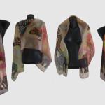 Ръчно рисуван копринен шал     Савана    200