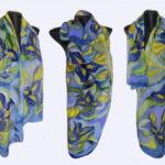 Ръчно рисуван копринен шал Нелии 72