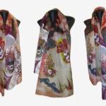 Ръчно рисуван копринен шал Венеция 72