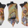 Ръчно рисуван копринен шал Африка Б 200