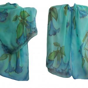 """Ръчно рисуван копринен шал""""Семирамида"""""""