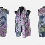 """Ръчно рисуван копринен шал """"За теб"""",материал -коприна 100 %,размер 140 х 40 см,създаден от Atelie Nevy & DiL,август 2014"""