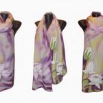 Ръчно рисуван копринен шал   Към Нирвана    200
