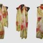 Ръчно рисуван копринен шал   Макове 2           200