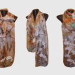 Ръчно рисуван копринен шал     Кактуси      200