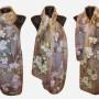Ръчно рисуван копринен шал   Орхидеи     200