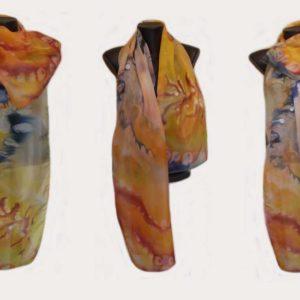 Ръчно рисуван копринен шал Една мечта 72