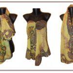 Ръчно рисуван копринен шал Предчувствие 200